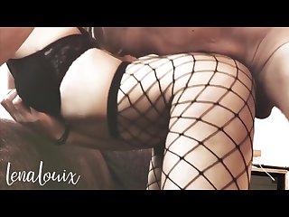 Slut girlfriend wants it on the couch fishnet stockings lenalouix