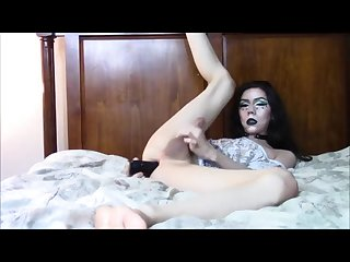 Gothic living doll tgirl plays with toys 8 pt 3