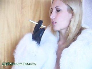 Larisa in white fur