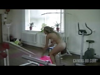 Nudist workout teen