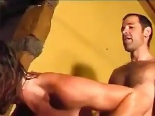 hot hairy dad vs handsome boy rim finger lick suck big balls bareback