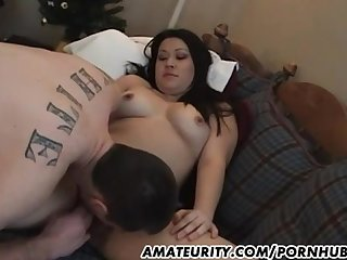 Amateur asian girlfriend sucks and fucks with her boyfriend