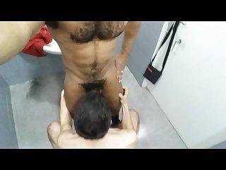 Fucking bareback at the gym follando en el gimnasio part 4