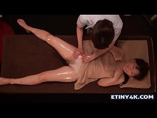 Two hot asian girls at massage studio