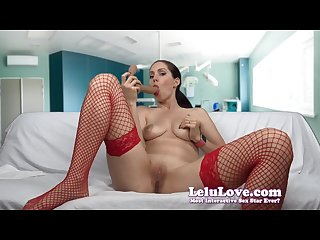 Lelu Love-Nurse Dildo Sucking Jerkoff Encouragement