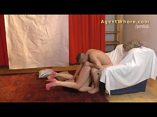 Reverse casting - Sexy MILF tests a guy\'s licking skills