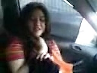 Pakistani cute college girl nimra with bd in his car