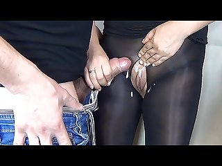 60fps handjob cum on pussy sexy secretary in nylon pantyhose sanyany