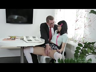 Tricky old teacher tricky old teacher shows esenia how a pussy