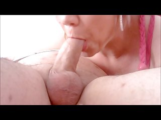 Cum extraction blowjob