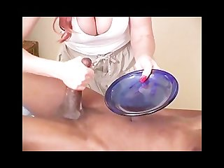 Janet mason gives a naught massage ending with cum