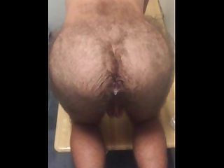 Farting dad s cum out of my hairy butt