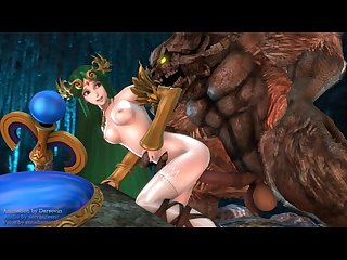 Palutena and the beast nintendo parody
