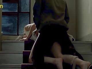 Caroline ducey fucking at a staircase in romance movie