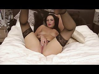 Sophia delane is an erotic milf in her lingerie rubbing her pussy
