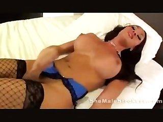 Shemale solo masturbation compilation