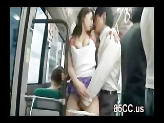 Horny milf fucked by bus geek