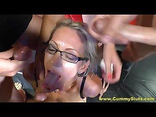 Busty blonde emma starr S massive facial bukkake