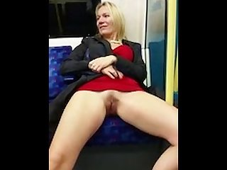 Woman gets freaky while on the local subway train