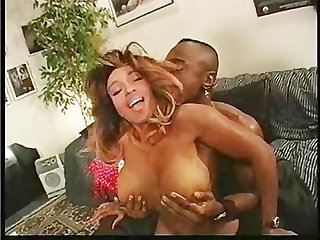 Delicious ebony escort pumped well