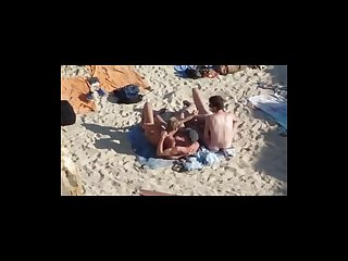 Elia beach mykonos group wank and suck