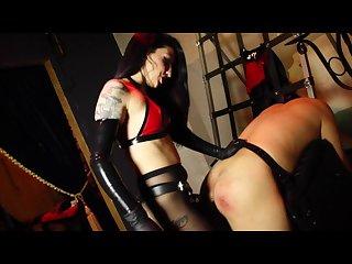 Sexy mistress fucks slave mercilessly