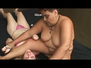 Fat mature mistressfacesitting on her young slave