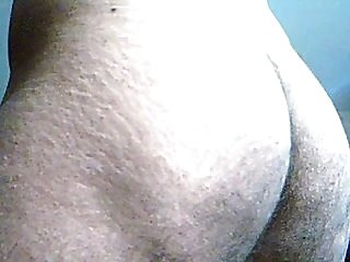 Indian hairy gaping ass asshole closeup