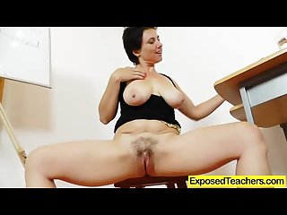 Madam teacher masturbating