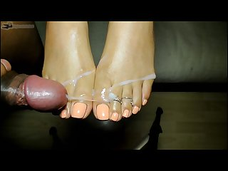 Part 2 2 cum edge with my sexy feet with the most amazing cumshot ending