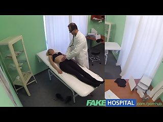 Fakehospital single blonde welcomes doctors thick cock and skilled tongue
