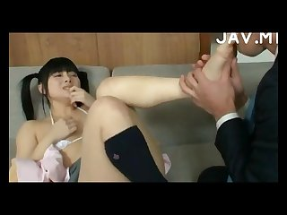 Asian schoolgirl foot worshipped