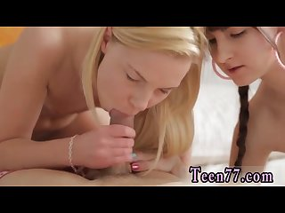 Brazzers sexy lesbian threesome at school first time massage turns into