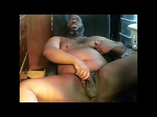 Hot black Bear stroking