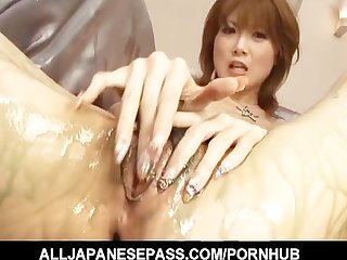 Gorgeous rika sakurai with a mouthful of hot cum