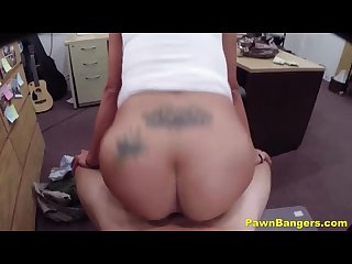 Pretty big tits latina wife gives blowjob spreads her legs for easy cash