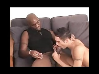 Twink barebacked by big black cock