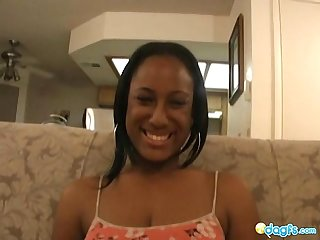 Ebony girlfriend gives great blowjob times