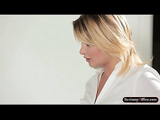 Mad office babe turns into horny bitch