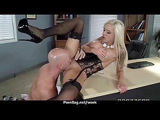 Horny big tit milf fucks employee S big dick in the office 1