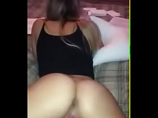 Selfshotties com bouncing on my brothers dick while he watches tv