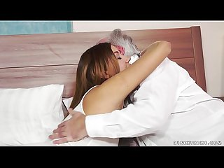Teenie karla fucked by an old man