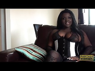 PASCALSSUBSLUTS - Ebony Eden Adore eats cum after domination