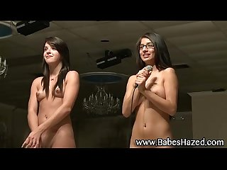 Hot college teens get naked