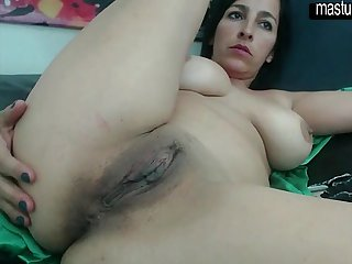 My slow masturbation with wide spread holes