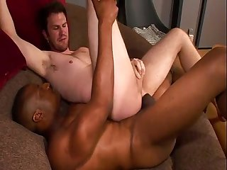 Monster black cock wrecking sweet white tight ass hole for hot fun