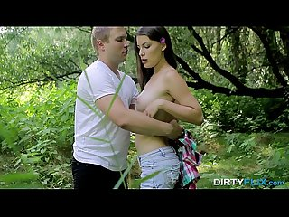Dirty Flix - Forest lovemaking Zena Little teen-porn
