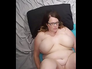 Bbw huge tit wife fucked and cum on face, tits and belly