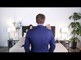 Kinky couple fuck in front of an estate agent - Jasmine Jae, Nina Elle at Bskow