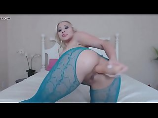 Hot blonde anal play with dildo videos at webcamshub.com